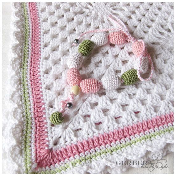 Set of 2 Baby blanket crochet and  by GerberaHandmade on Etsy, $88.99  Adorable !