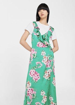Blommigt-tryck flowy klänning -  Damer | MANGO Sverige