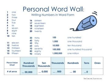 Reading and Writing Numbers in Expanded Form, Standard ...