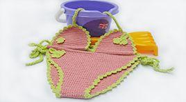 Crochet bikini - baby girl - made in cotton, silk and cashmere