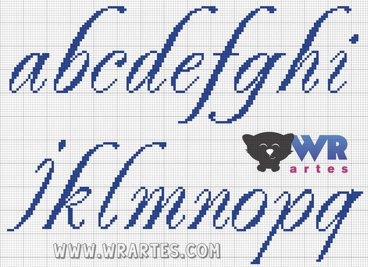 WR Artes (Blog do Wagner Reis): Letras REQUINTADAS minúsculas para PONTO CRUZ