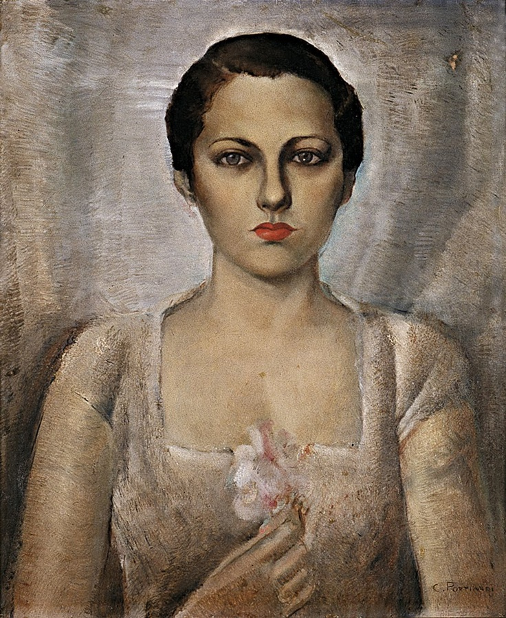 'Young Woman' (1934) by Brazilian painter Cândido Portinari (1903-1962). via la calavera catrina