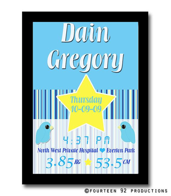 Birth Announcement Posters by 1492productions on Etsy