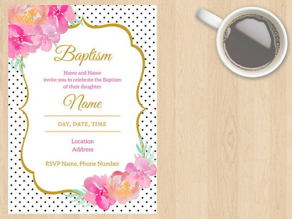 Digital Download Christening Baptism Baby by DesignsByMoniqueAU