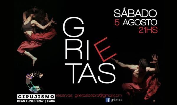 """""""Grietas"""", Teatro Físico, acrobacia aérea y danza"""