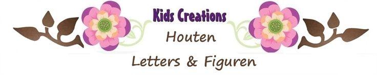 Houten letters, Mdf Letters blanco of deco -kidscreations