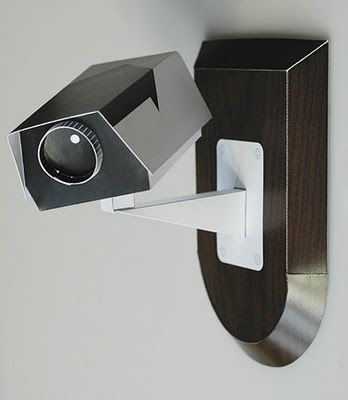 Paper CCTV camera