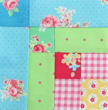 farmer's wife quilt block 73 rainbow flowers | Farmer's Wife Quilt Along Week 12