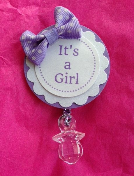 12 Baby Shower Pins Guest Corsages Light Purple by DesignsByFlores