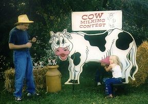 The Cow Milking Contest is a Big Hit with the children & adults. Get it for your next carnival!! Available from Astro Jump - Atlanta