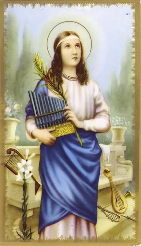 St Cecilia, patron of musicians - pinterest