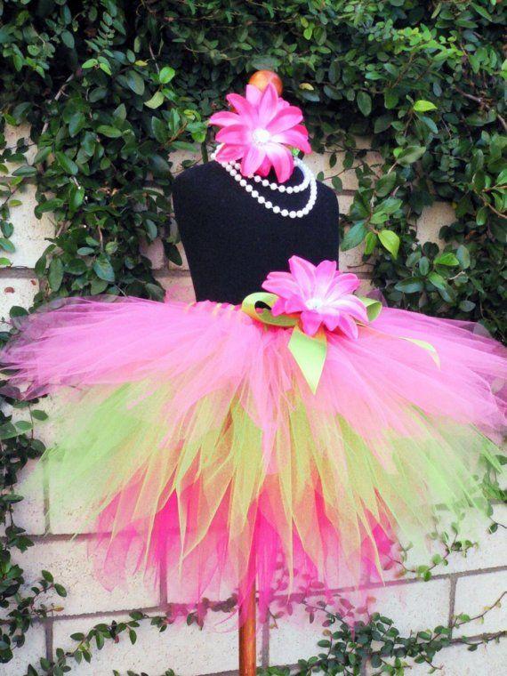 oh emmmm geeee   Fruitylicious  Custom Sewn 3 Tiered Pixie Tutu  Hot by TiarasTutus, $46.00