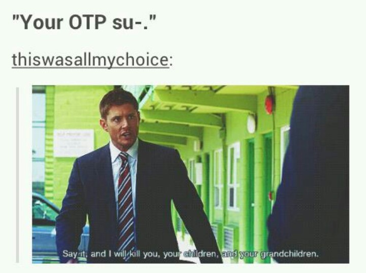 literally me, but my friends dont actually know what an OTP is so i have this rarely but when it happens, shit will go down