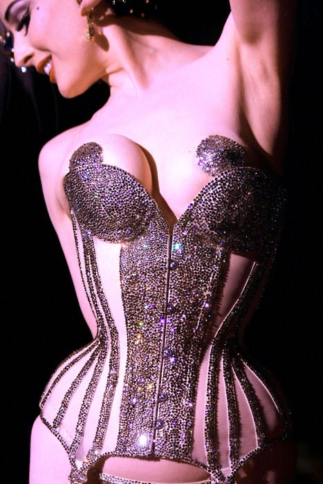 Dita von Teese in the Swarovski crystal corset and crystal pasties!