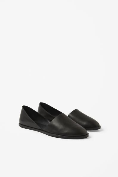 Flat leather shoes from cos