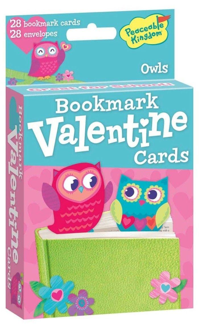 Peaceable Kingdom Pop-Out Owl Bookmark Valentine Cards