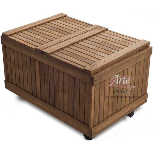 Caixa térmica feita em Eucalipto 0,61 x 0,41 x 0,37 - 4574