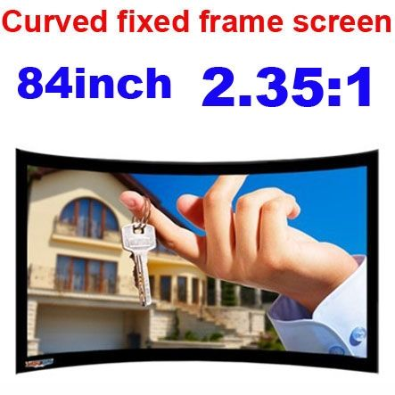 329.00$  Watch here - http://ali7d1.worldwells.pw/go.php?t=32729918640 - Freeshipping 84inch 2.35:1 HD DIY Wall Projection screen 3D Curved Fixed Frame Projector Screen for Sale