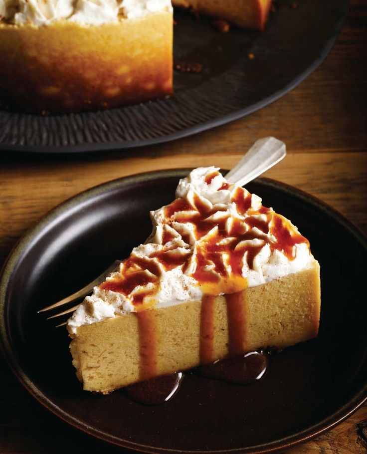 Pumpkin Cheesecake with Apple Cider Reduction! From #VeganHolidayCooking #CandleCafe