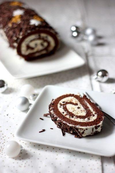 Bûche chocolat et mascarpone