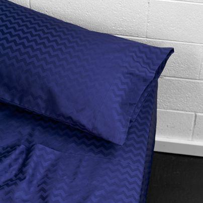 Chevron Queen bed sheet set Marine