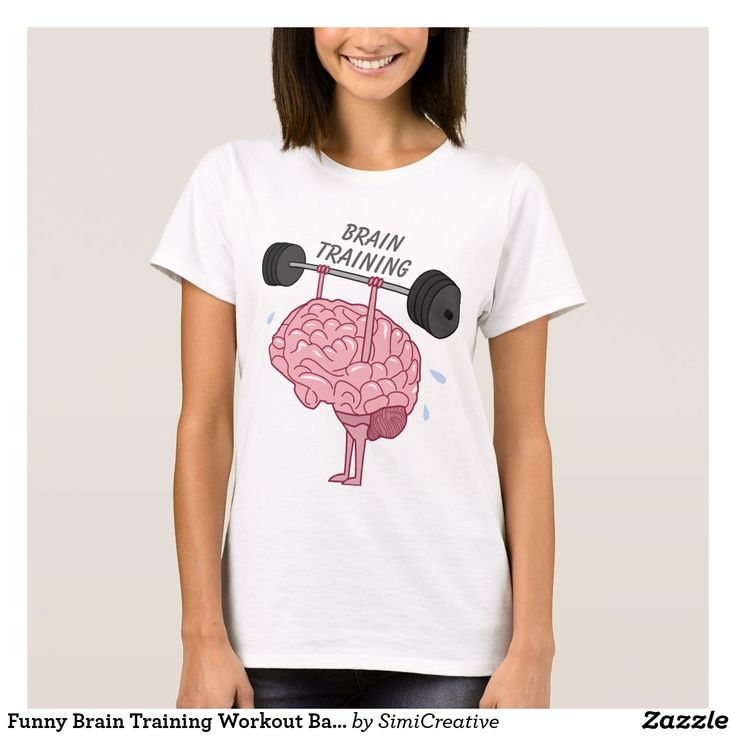 Funny Brain Training Workout Barbell T-Shirt