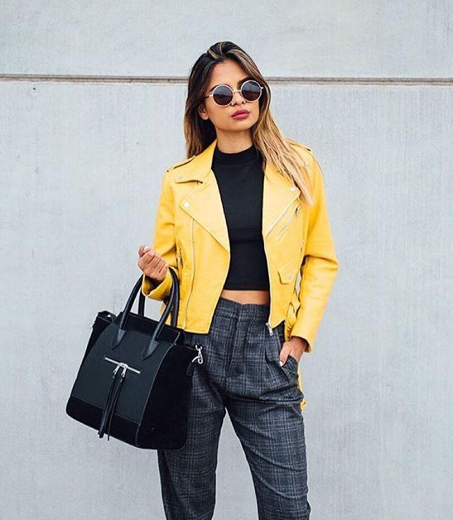 #musthave Yellow Leather Jacket via @fashionshopnow  #TheFashionistasDiary