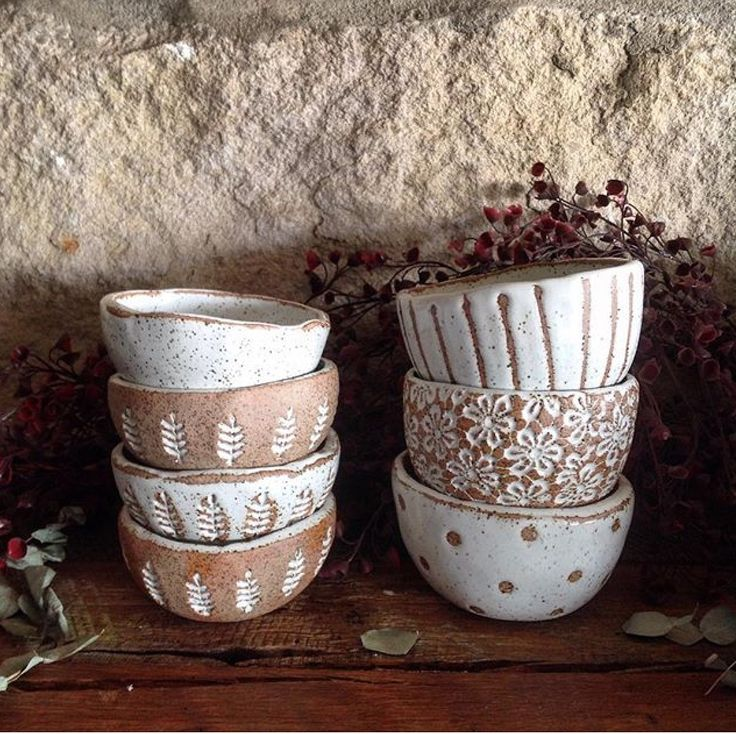 Little stoneware bowls by Barakee Pottery