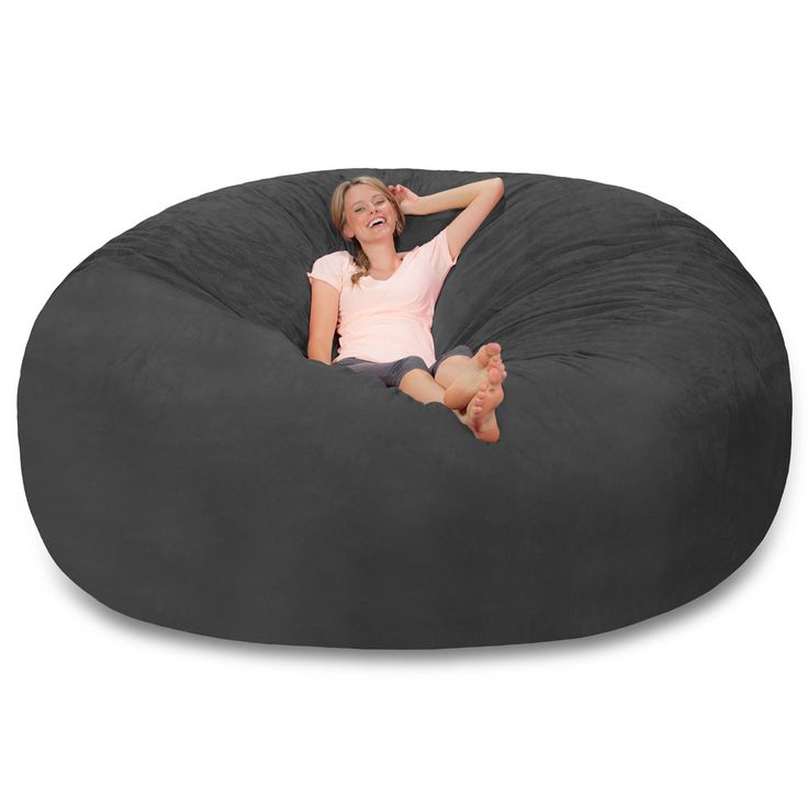 8 Ft Sack  Big Bean Bags Dimensions: 8 Ft X 8 Ft X 3 Ft (measured At Widest  Points) Weight: Approximately 132 Lbs Feature: Removable Machine Washable  Cover ...
