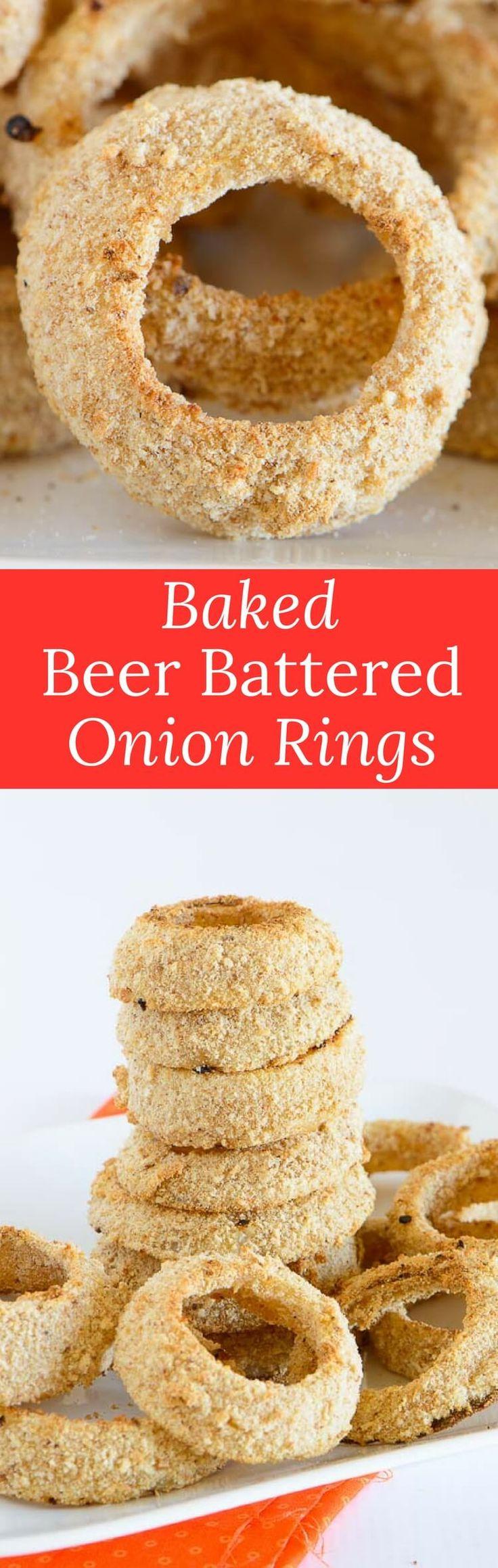 Homemade Battered Onion Rings In Oven Baked