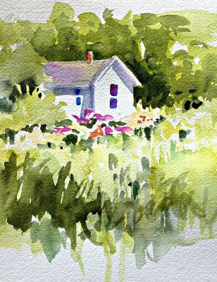 In and Out of The Studio: Small White Cottage