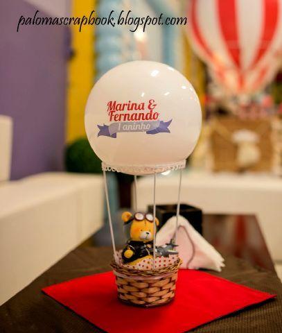 Centro de mesa balão de ar quente
