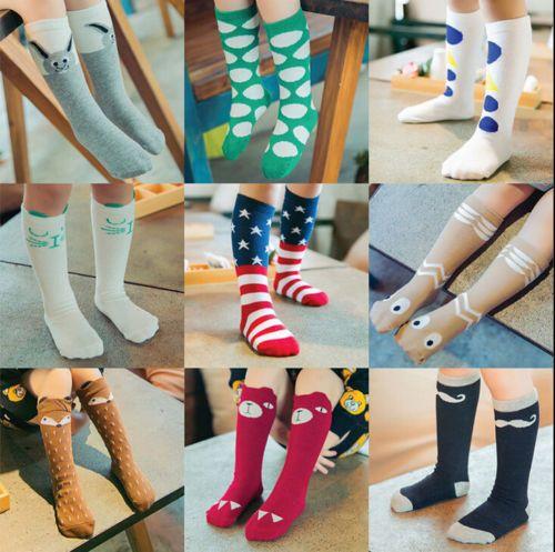 Cute Girl Kids Knee High Socks Stocking Cotton Baby Toddler Leg Warm Leggings