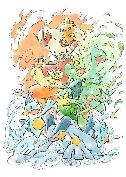 Starter Pokemon, evolutions; Pokemon