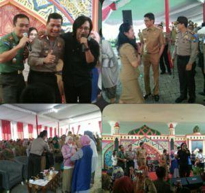 Kapolres Batu duet bersama Ari Laso di Acara Halal Bihalal Among Tani Tribratanews Polda Jatim