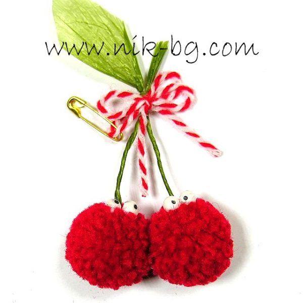 Череши - мартеница за доброта :http://nik-bg.com/shop/martenici/cherries/