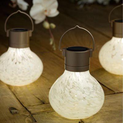 Lantern, White Solar Tea