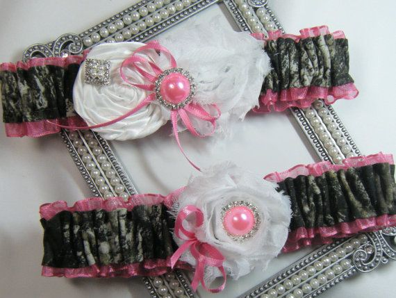 Mossy Oak Hot Pink CAMOUFLAGE wedding garter set Camo garters shabby rose   From SheerSatinandLace, an Etsy store.  Please mention that you found them thru Jevel Wedding Planning's Pinterest account. Keywords:  #camothemedweddinggarters #weddinggarters #huntingweddingthemedgarters #jevelweddingplanning Follow Us: www.jevelweddingplanning.com  www.facebook.com/jevelweddingplanning/