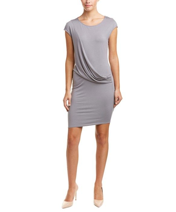 Three Dots Drape-Front Sheath Dress