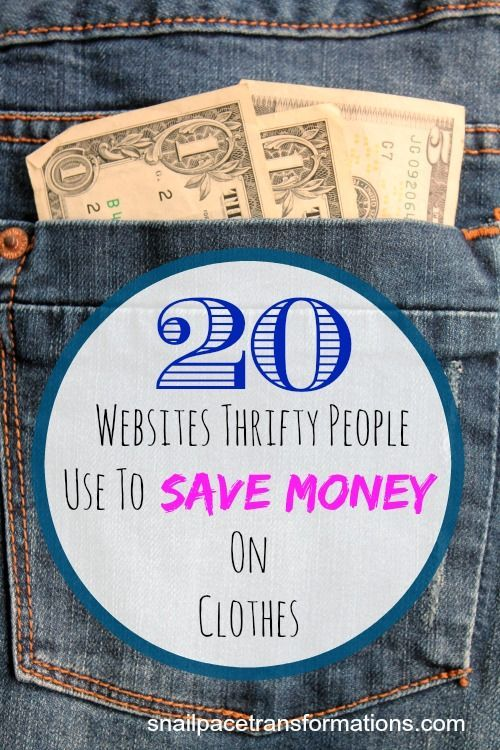 20 websites thrifty people use to save money on clothing. Are you using all of these sites? If not you might be spending more than you need on your online clothing purchases.