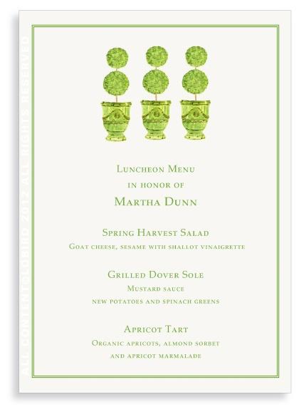 Adorable for a garden luncheon - menu