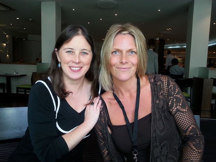 Claire Smith (right), Alive-Woman.com with the host of the Hazelnut Interviews, Satya Gillen, at a Digital Experts Academy training event in London, September 2014.