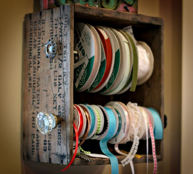 9 Wall Storage Ideas That You Need To Try: Ribbon Storage Solutions: Craft Ideas For Boxes
