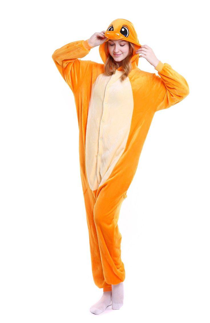 kigurumi yellow Charmander onesies animal pajamas for adults