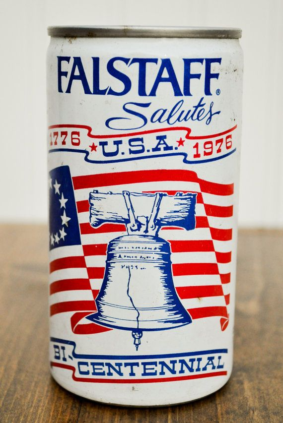 1976 Bicentennial Falstaff Beer Can - Pull Top Can - Vintage Beer Can - Commemorative Cans - Man Cave Decoration // by TheOakBarnCollection