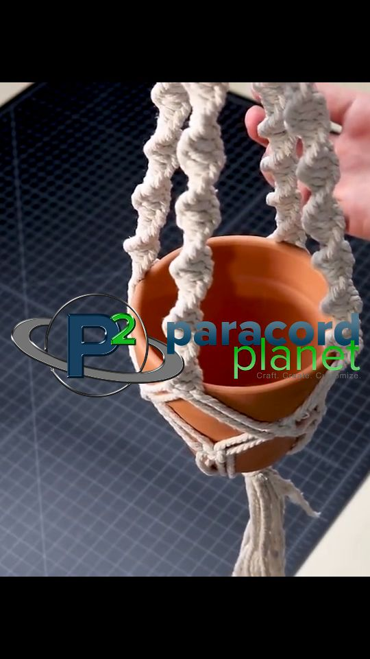 Learn how to make an easy macrame plant hanger. With only three kinds of knots, you can construct a useful and beautiful macramé project.