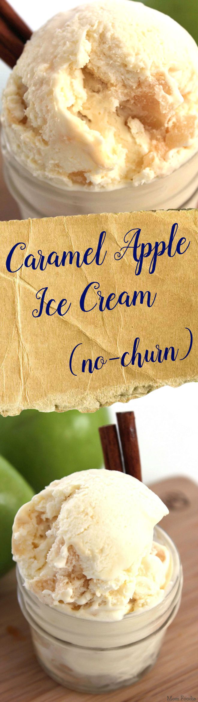 Caramel Apple Ice Cream  -no churn ice cream recipe