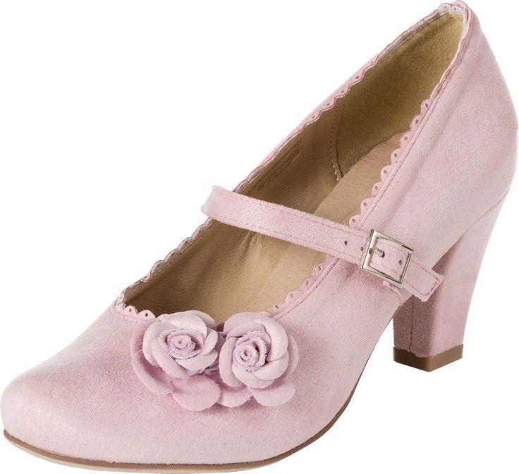 Dirndl-Schuhe Mary-Jane, rosa, Trachtenschuhe für Damen | Dirndltopia