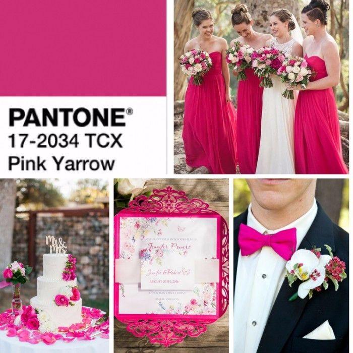 Comunidade linda! Tropical e festivo, o Pink Yarrow é impossível de ignorar! É um tom de rosa atrevido que remete a ousadia. Quer uma festa impactante? Essa é a sua cor! Inspirações nesta cor: Inspirações Pink!!! Cor para Casamento na Primavera -