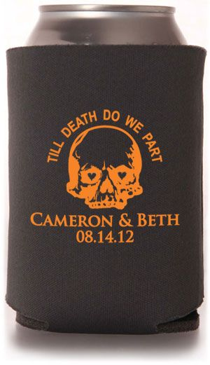 Funny Can Coolers ~ Best images about halloween wedding on pinterest